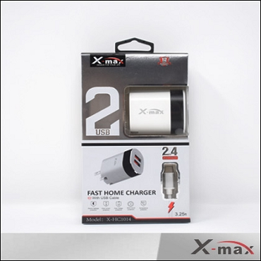 X-max  Home Charger  2 USB - HC1014 Lightening  Cable included