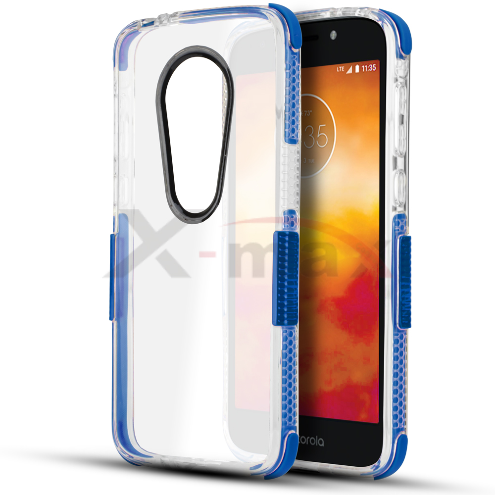 E5 PLUS - CLEAR BUMPER - BLUE