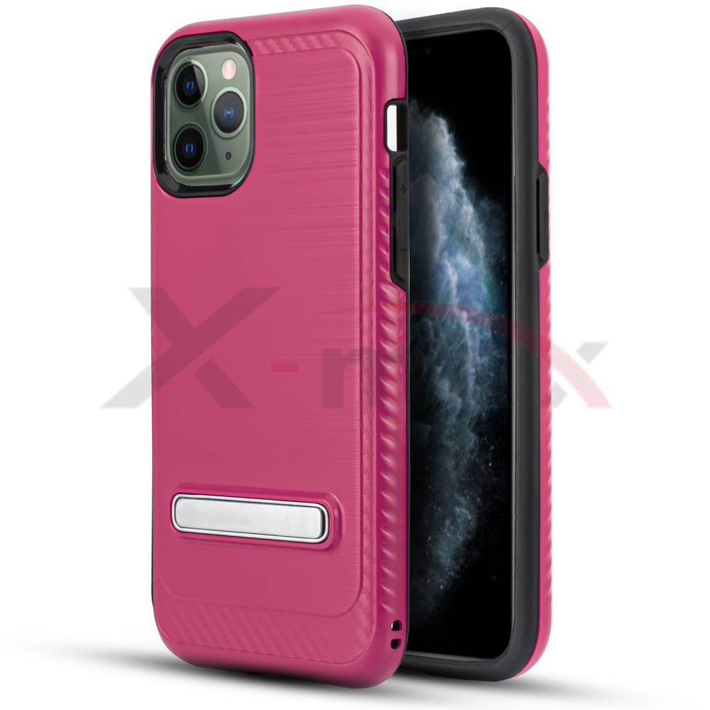 IPHONE 11 PRO - BRUSH LINE METAL STAND - PINK
