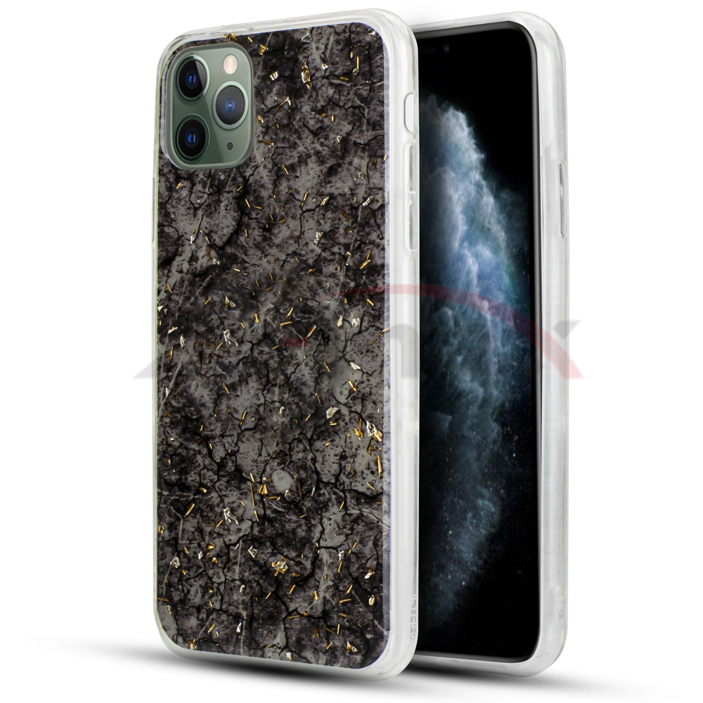 IPHONE 11 PRO  - MARBLE DESIGN - BLACK