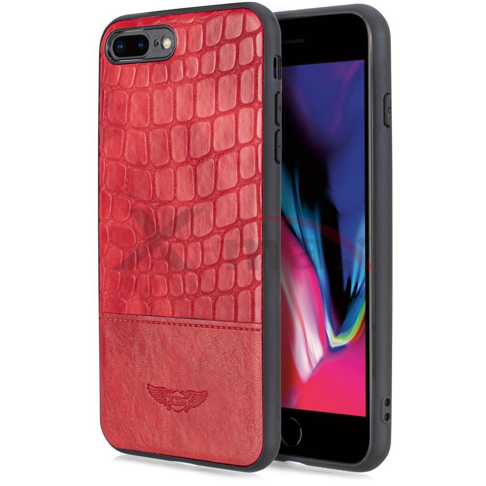 IPHONE 6S PLUS -  SNAKE LEATHER CASE - RED
