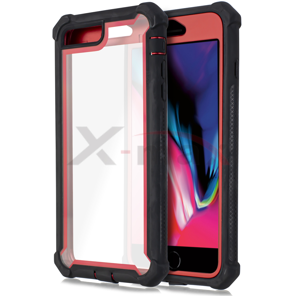 IPHONE 7/8 PLUS - CLEAR PROTECT - RED