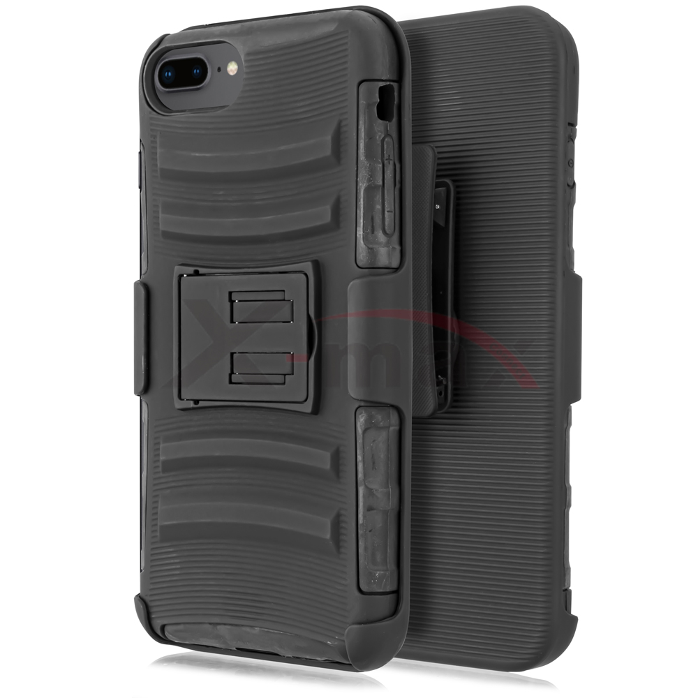 IPHONE 7/8 PLUS - HYBRID HOLSTER - BLACK
