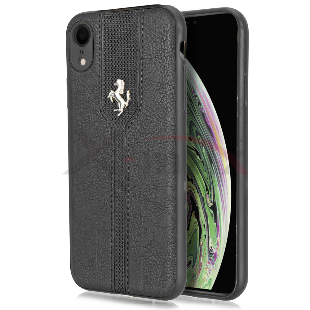 IPHONE XS MAX - LEATHER HORSE - BLACK