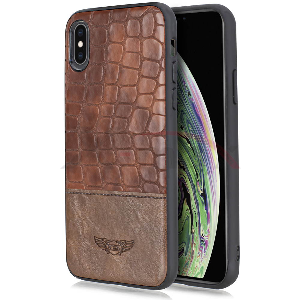 IPHONE XS MAX - SNAKE LEATHER - BROWN