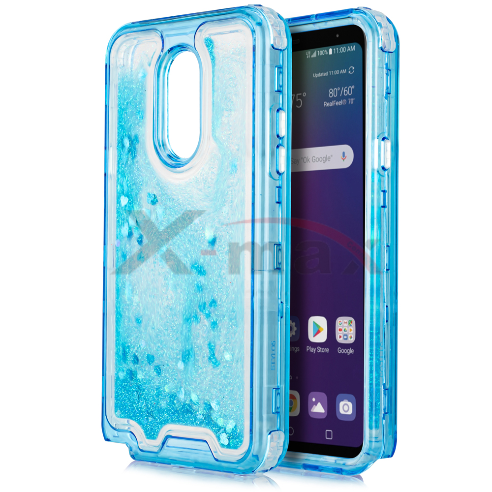 K40  - CLEAR GLITTER MOTION - BLUE