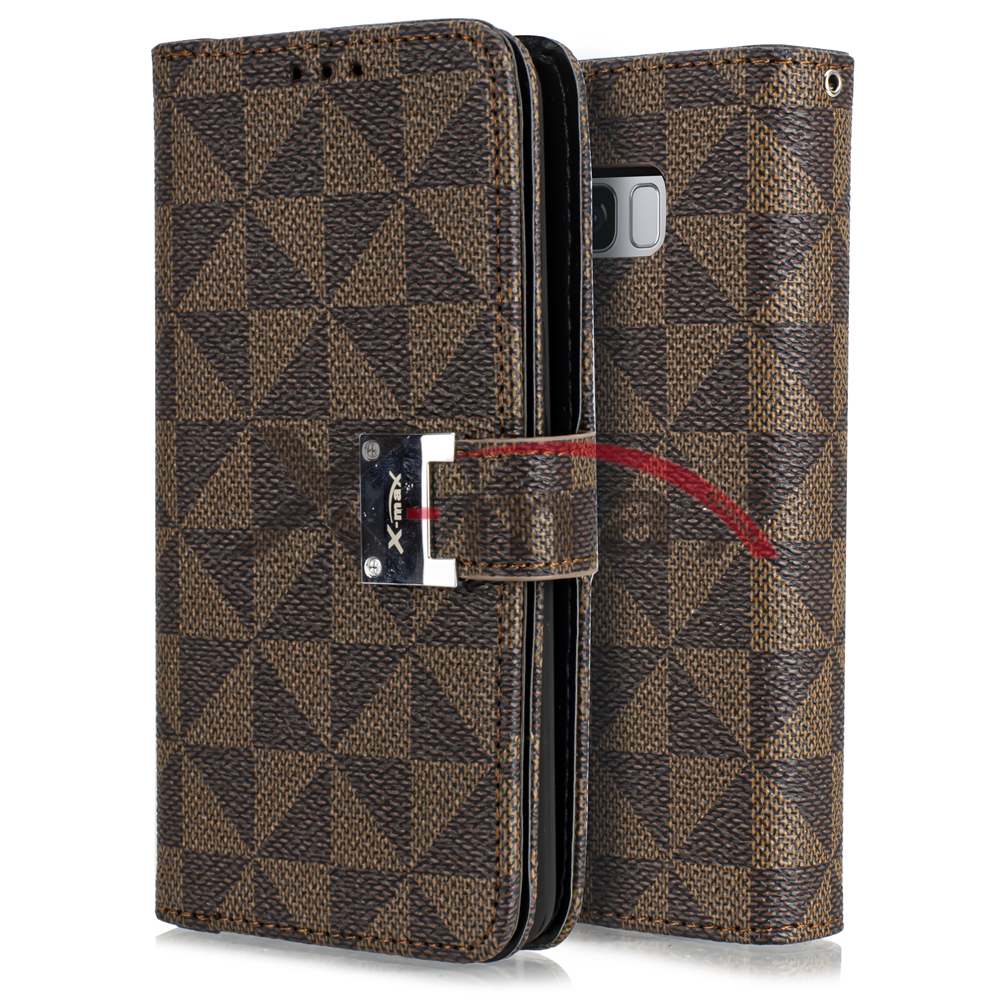 S8 PLUS - WALLET PATTERN - BROWN