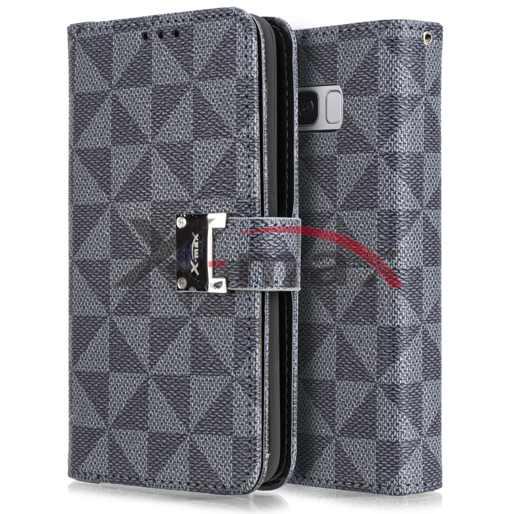 S8 PLUS - WALLET PATTERN - GRAY
