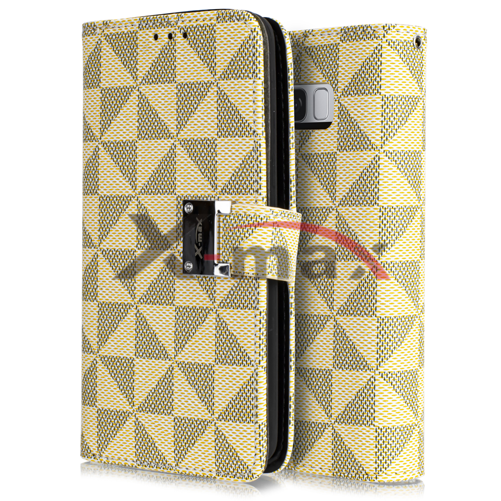 S8 PLUS - WALLET PATTERN - LIGHT BROWN