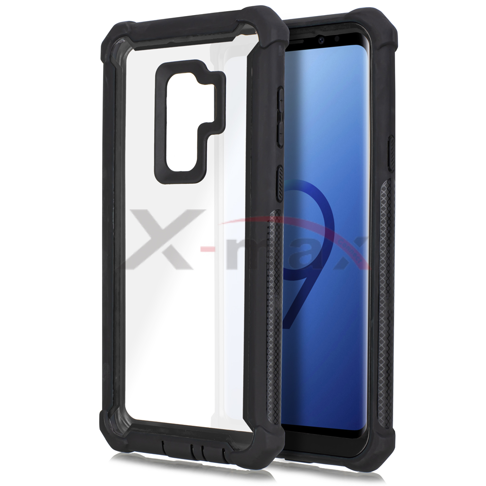 S9 PLUS - CLEAR PROTECTOR - BLACK