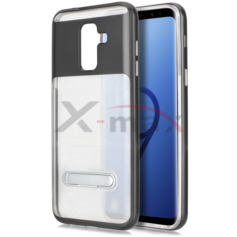 S9 PLUS - CLEAR TPU STAND - GRAY