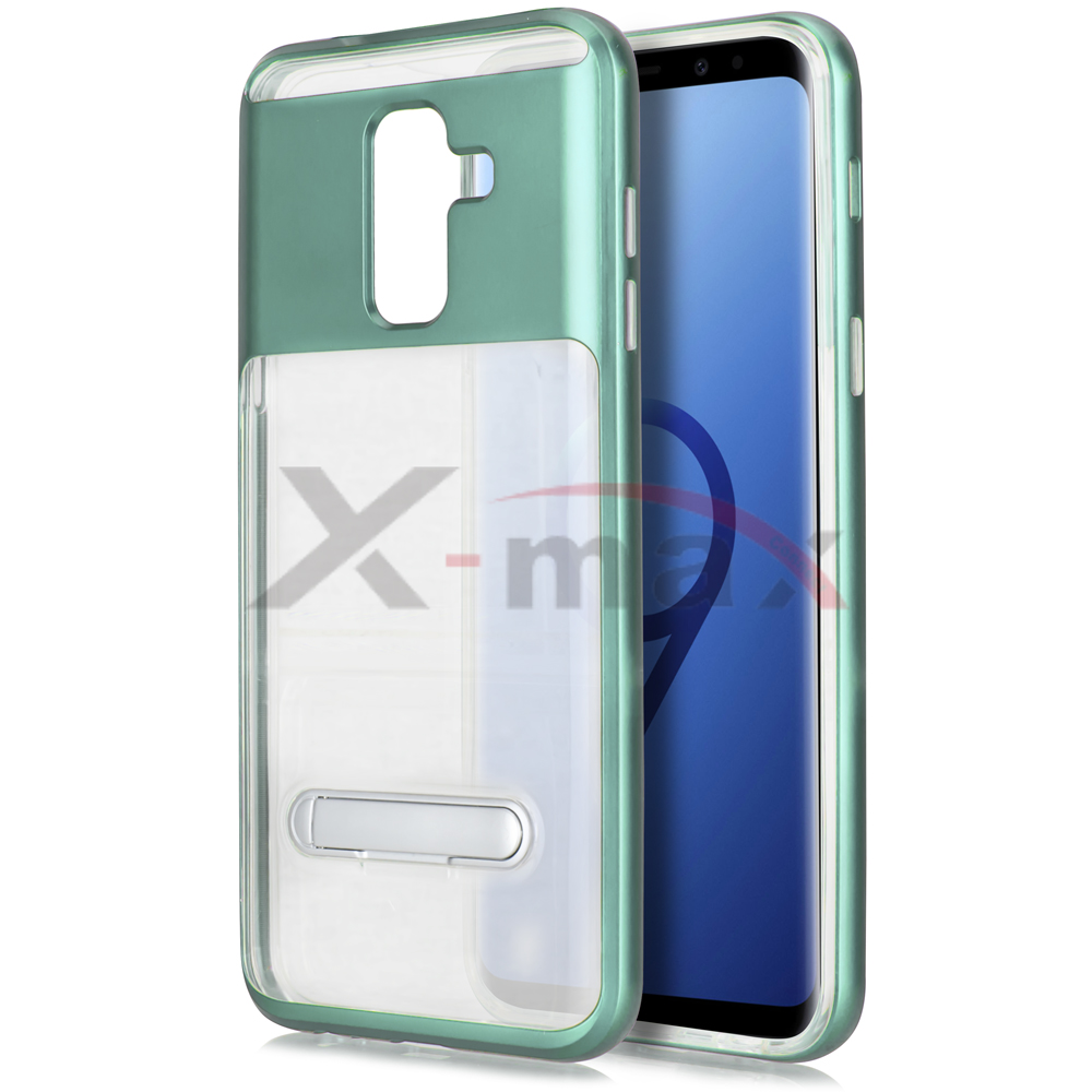S9 PLUS - CLEAR TPU STAND - TEAL