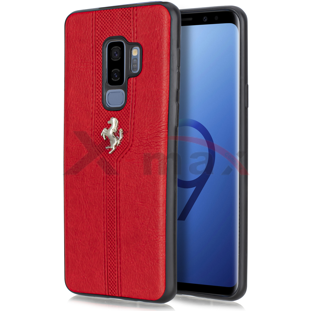 S9 PLUS - LEATHER HORSE CASE - RED