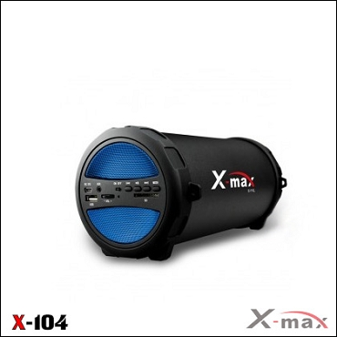 BLUETOOTH SPEAKERS SPEAKERS X-104 X-MAX BLUE