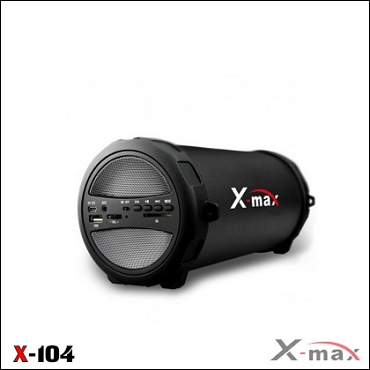 BLUETOOTH SPEAKERS X-104 X-MAX GRAY