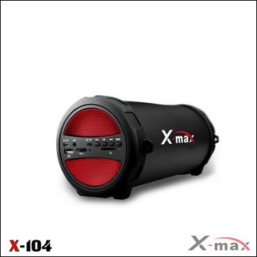 BLUETOOTH SPEAKERS  X-104 X-MAX RED