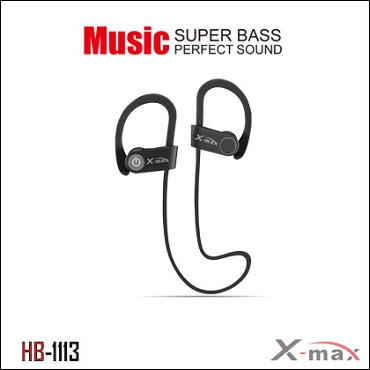 Wireless Headset X-max  model HB-1113 Color Black