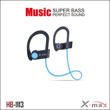 Wireless Headset X-max  model HB-1113  Color BLUE