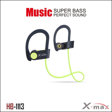 Wireless Headset X-max  model HB-1113  Color GREEN