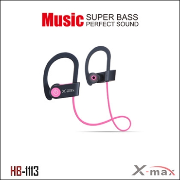 Wireless Headset X-max  model HB-1113  Color PINK