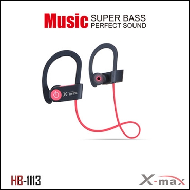 Wireless Headset X-max  model HB-1113  Color RED