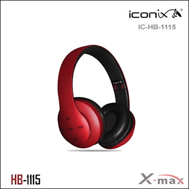 Wireless Headset X-max  model HB-1115   Color RED