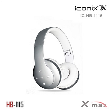 Wireless Headset X-max  model HB-1115   Color SILVER