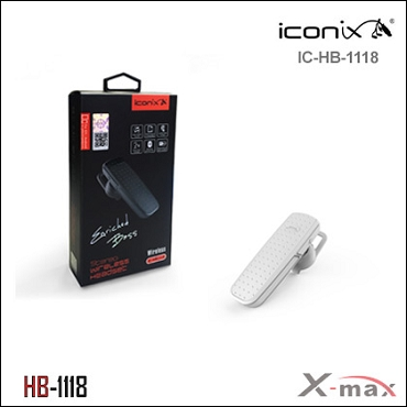 Wireless Headset iconix  model HB-1118 Single Color  Silver