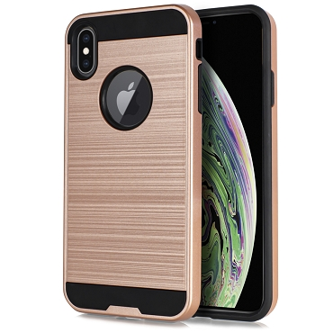 IPHONE XS MAX - BRUSHED LINE - ROSE GOLD