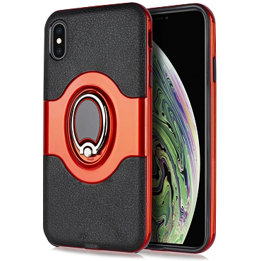 IPHONE XS MAX - METAL RING - RED