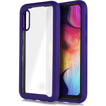 A10E - CLEAR RUBBER CASE - PURPLE