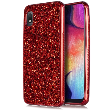 A10E - METAL CASE GLITTER - RED