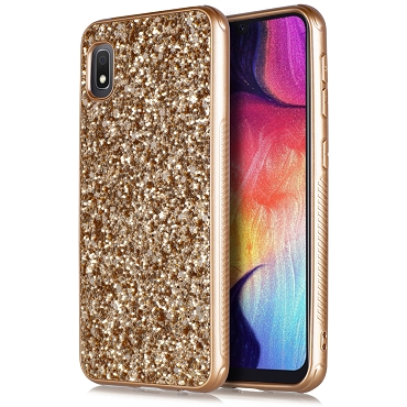 A10E - METAL CASE GLITTER - ROSE GOLD