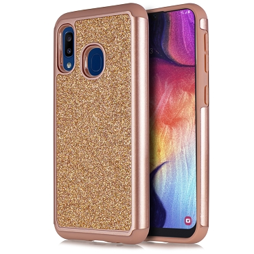 A10E - GLITTER DIAMOND CASE - ROSE GOLD