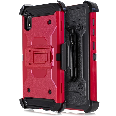 A10E - RUBBER HOLSTER CASE - RED