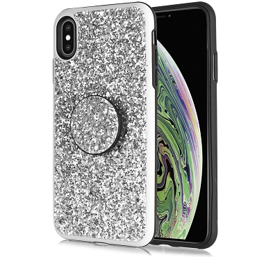 IPHONE X / XS - DIAMOND STAND - SILVER
