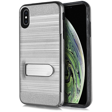 IPHONE X / XS - BRUSHED LINE STAND - GRAY