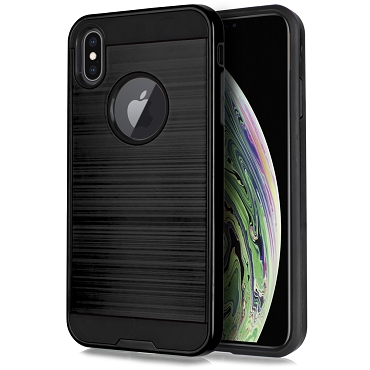 IPHONE XS MAX - BRUSHED LINE - BLACK