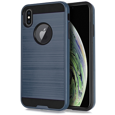 IPHONE XS MAX - BRUSHED LINE - NAVY BLUE