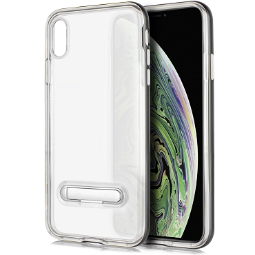 IPHONE XR - TPU W/STAND - GRAY