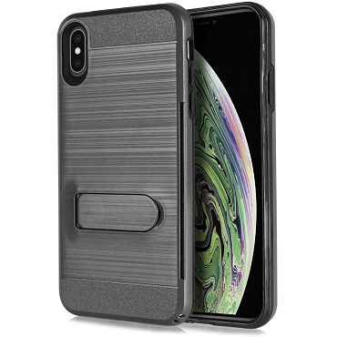 IPHONE XR - BRUSHED LINE STAND - BLACK