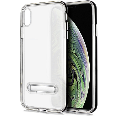IPHONE XS MAX - TPU W/STAND - BLACK