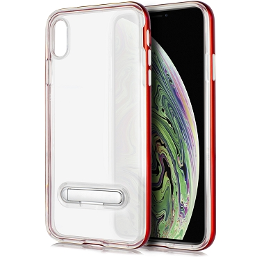 IPHONE XS MAX - TPU W/STAND - RED