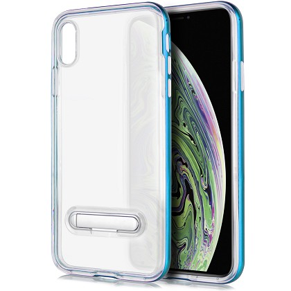 IPHONE X / XS - TPU W/STAND - BLUE