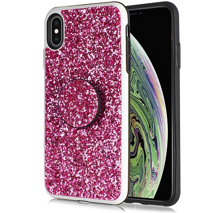 IPHONE XR - DIAMOND STAND - PINK