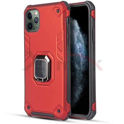IPHONE 11 PRO MAX - ARMOR METAL STAND - RED