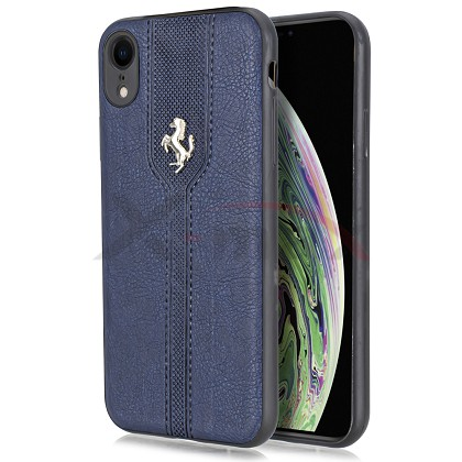 IPHONE XS MAX - LEATHER HORSE - NAVY BLUE
